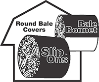 Slip on bale bonnet covers
